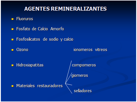 Agentes Remineralizantes